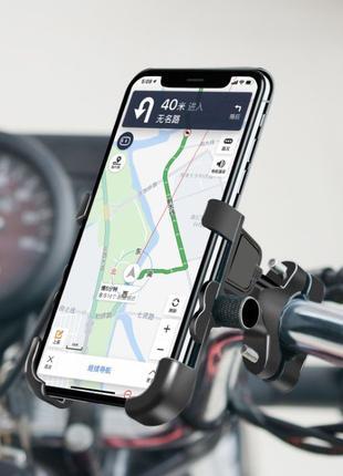 Тримач телефону на руль мото\вело з USB, метал,WUPP, держатель...