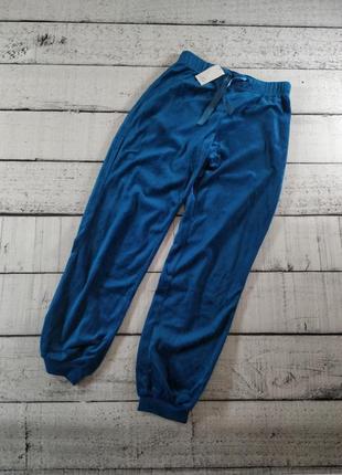 Велюровые штаны бирюзовые брюки для дома