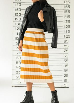 ❤длинная трикотажная юбка с широкими полосками❤