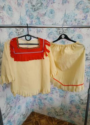 Карнавальный костюм индианки,индеец,костюм индейца для девочки