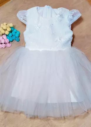 Платье на годик. Детское нарядное платье. Пышное платье для девоч