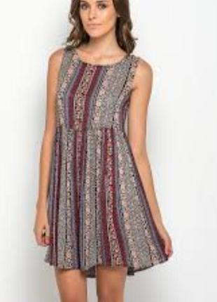 Платье свободного кроя в этно стиле