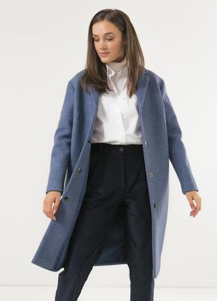 Женское стильное пальто season голубого цвета
