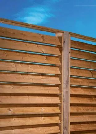 Забор деревянный под ключ.