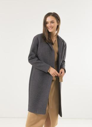 Женское стильное пальто season беверли цвета графит