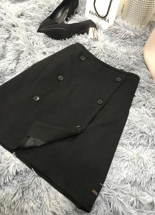 Чёрная трикотажная юбка tommy hilfiger