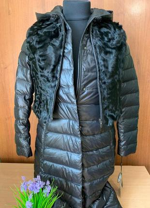 Windward пуховик пальто женский  жилетка каракуль, капюшон, ст...