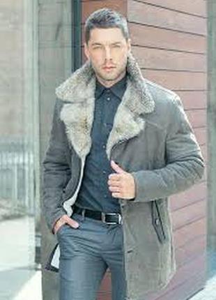 Florenza натур шикарная куртка дубленка р 50-52