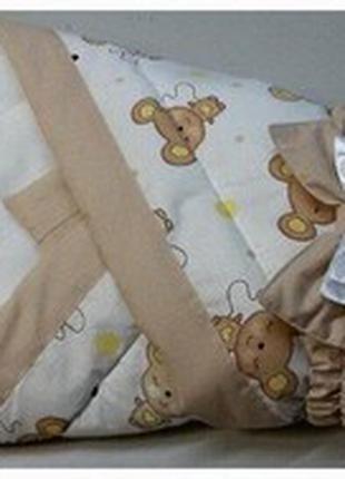 Конверт-одеяло для новорожденных гипераллергенный натуральный