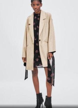 Пальто zara без подкладки