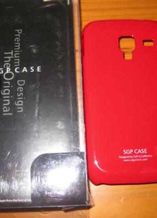 Чехол накладка SGP Samsung Galaxy Ace 2 I8160-красный.