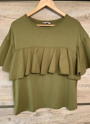 Стильная блузка из модала с воланами/рюшами/оборками