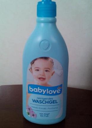 Детский шампунь гель babylove
