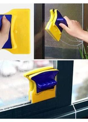 Магнитная щетка для мытья стекол Double Sided Glass Cleaner