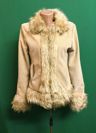 Распродажа!!! демисезонная куртка с экозамши pure original