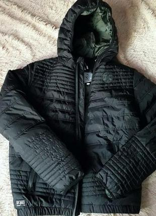Фирменная куртка стеганая чёрная цена 3 дня! скидка!