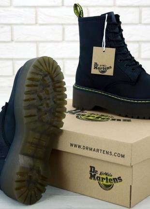 Женские кожаные ботинки/ сапоги/ угги dr. martens jadon black ...