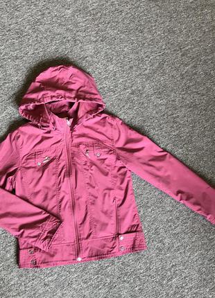 Розовая ветровка, легкая летняя куртка xxs.