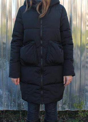 Новая крутая зимняя куртка,пальто, пуховик черный