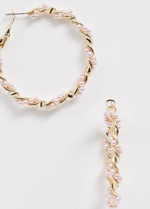 Вишукані сережки кольця 5 см