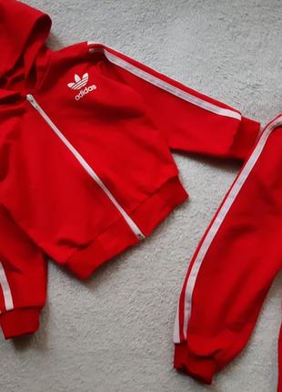 Дитячий червоний костюм Adidas
