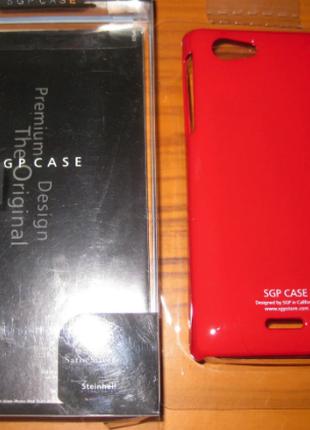 Чехол накладка SGP Sony ST26i-красный
