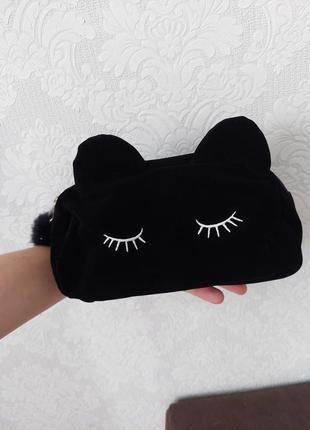 Косметичка, сумка для косметики, пенал, косметичка черная