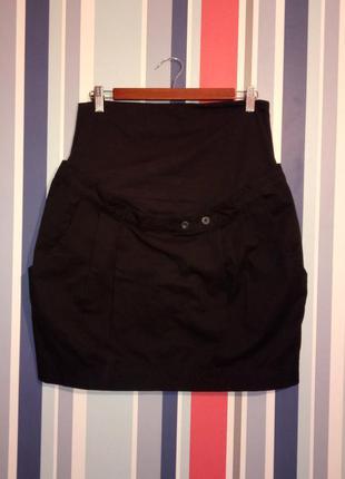 Женская коттоновая юбка для беременных бренд colline