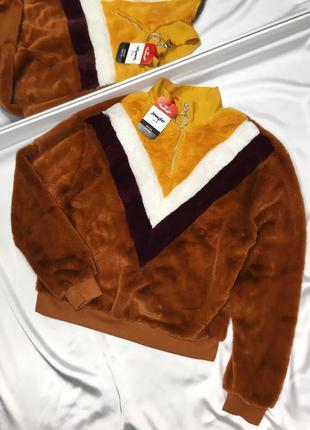 Плюшевый свитшот свитер с кольцом размер c-м