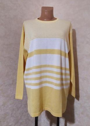 Удлиненный желтый джемпер в полоску, prima parte, xl