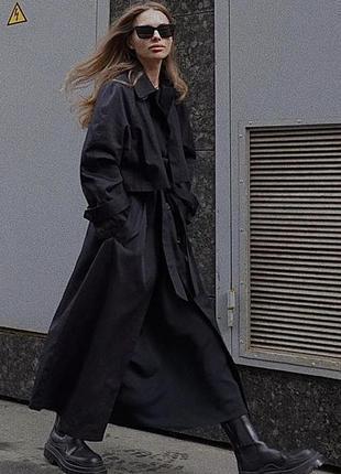 Новые чёрные кожаные ботинки зара zara челси на платформе сапо...