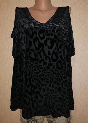 Красивая женская кофта, блузка с набивным леопардовым принтом,...