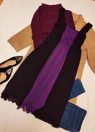 Платье большое батал фиолетовое бордовое на подкладке