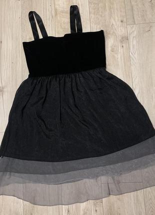 Шелковая туника платье с бархатным верхом