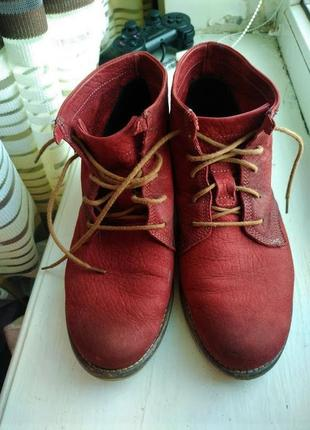 Фирменные кожаные ботинки полусапожки на танкетке 37 josef seibel