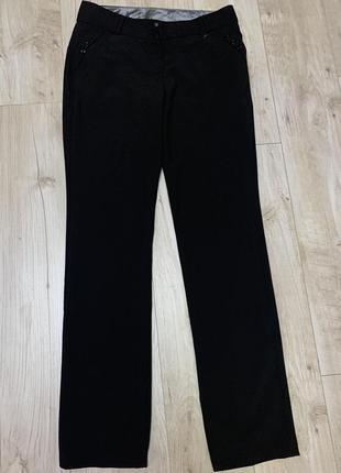 Чёрные классические повседневные брюки штаны размер с/м