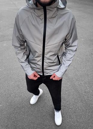 Топовая рефлективная водоотталкивающая ветровка мужская куртка