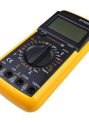 Мультиметр DT9208A, цифровой мультиметр, тестер
