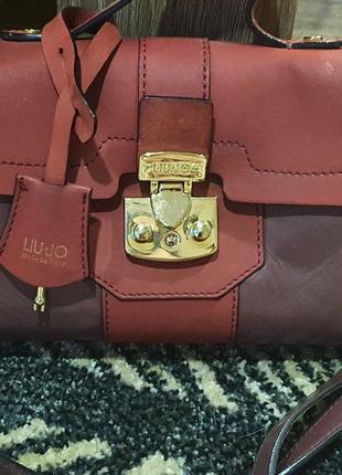 Брендовая кожаная сумка, кроссбоди liu-jo, оригинал, италия