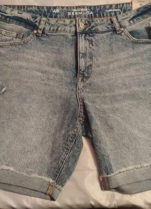 Женские стильные джинсовые шорты C&A, размер L
