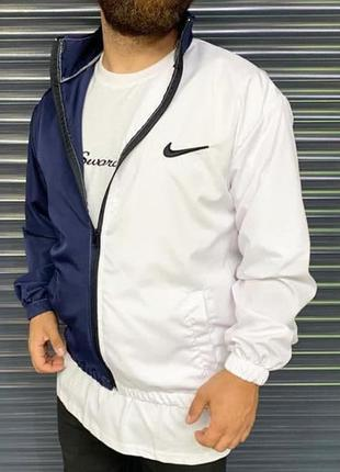 Ветровка мужская nike белая синяя / вітровка куртка олимпийка ...