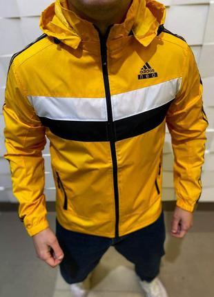 Ветровка мужская adidas желтая / вітровка куртка курточка адид...