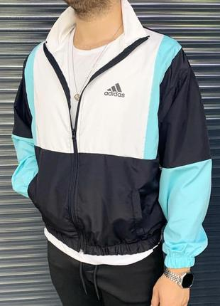 Ветровка мужская adidas белая / вітровка куртка олимпийка адид...