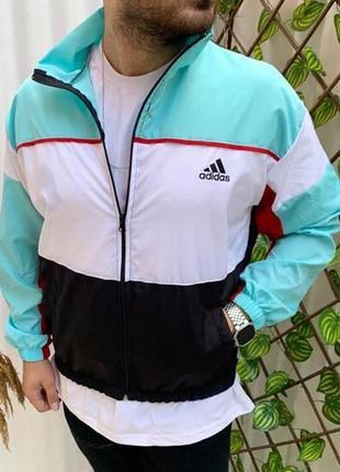 Ветровка мужская adidas голубая / вітровка куртка олимпийка ад...