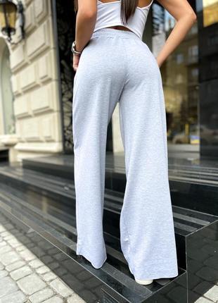 Женские модные спортивные свободные штаны клёш👍тренд 2021👍