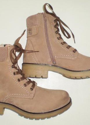 Ботинки кожаные Tamaris, оригинал, р-р 40