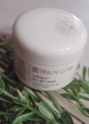 Гель-маска с коллагеном yellow rose collagen2