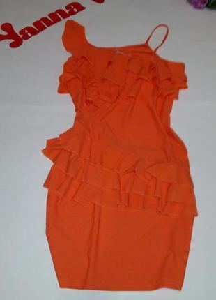 Платье летнее коктейльное  короткое  48 50 52 размер бюстье sa...