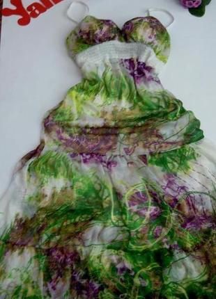 Платье 48 50 размер макси сарафан летнее