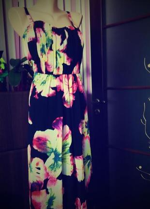 Платье сарафан 48  размер длинное нарядное бюстье